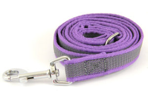 Latex leash purple