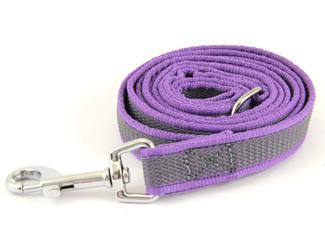 Latex leash purple