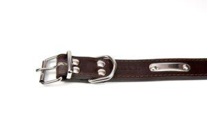 2-layered leather collar